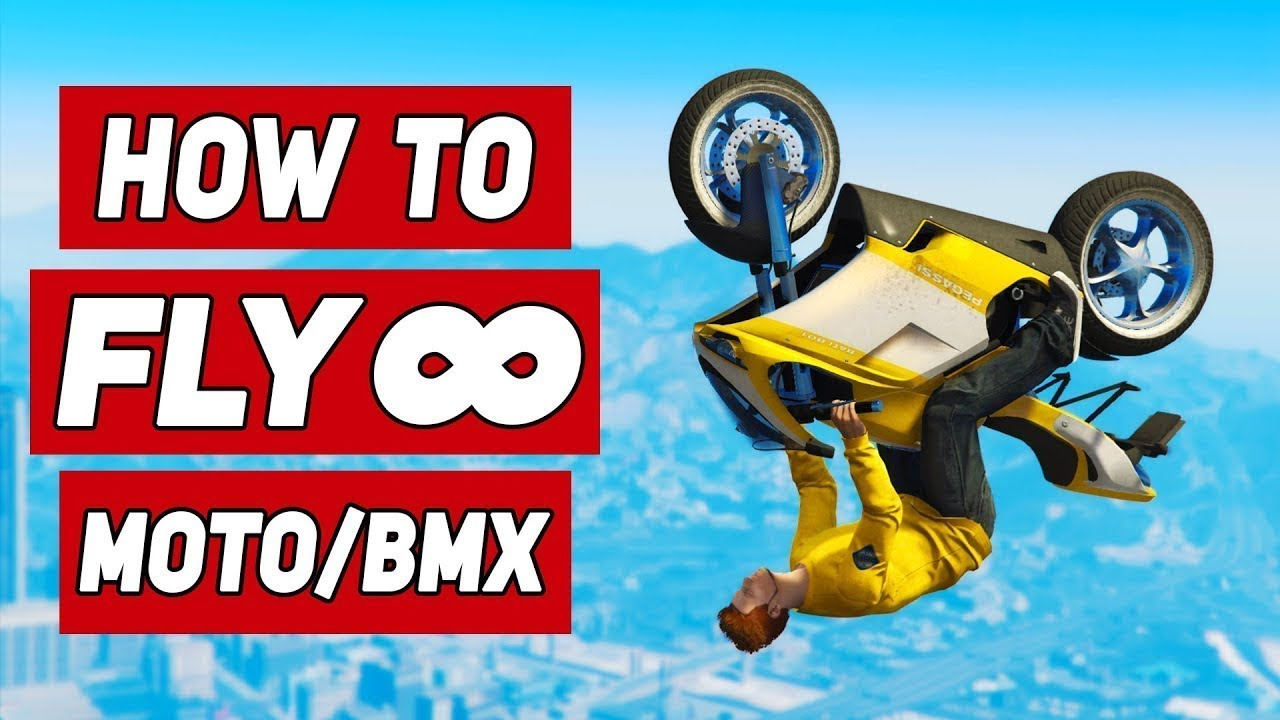 How To FLY INFINITELY On A MOTORCYCLE & BMX in GTA 5!
