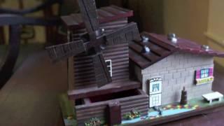 Windmill Jewelry Music Box Made In Japan