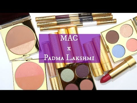 MAC Padma Lakshmi Collection: Live Swatches & Review