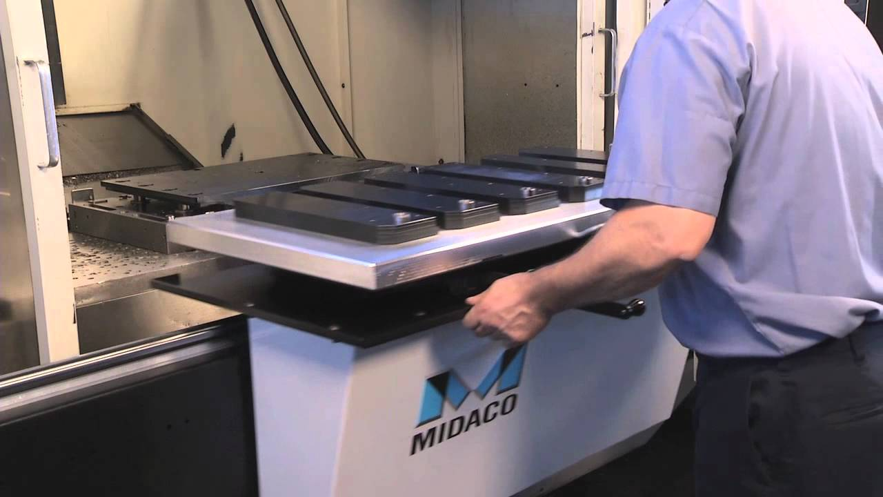 Midaco S Manual Pallet Changer System With Shuttle Youtube