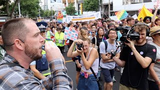2020 Auckland Gay Pride. Protesting A Celebration Of Sin