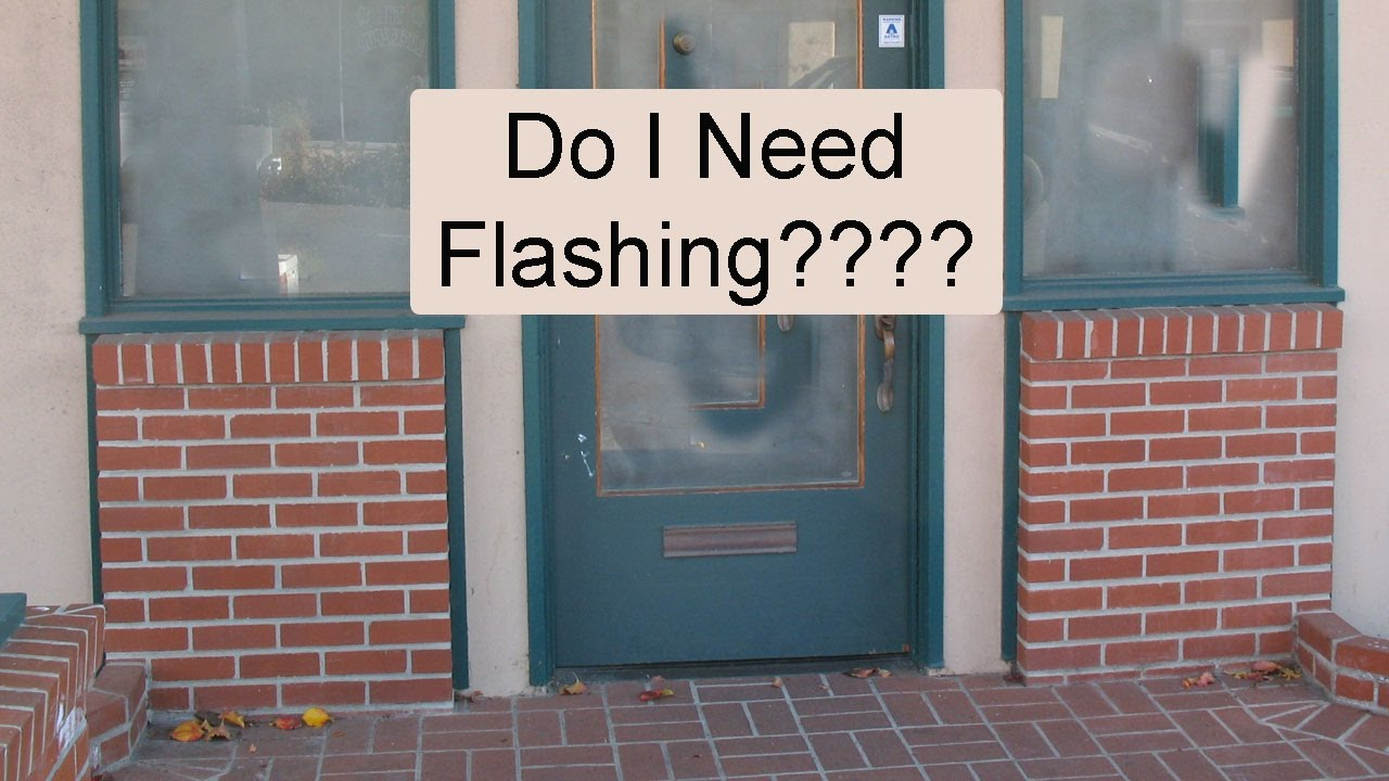 How To Install Flashing Over Exterior Masonry Walls To Prevent Building Damage Youtube