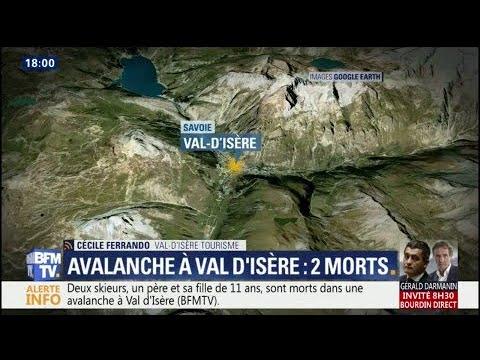Un père et sa fille de 11 ans meurent dans une avalanche à Val d'Isère