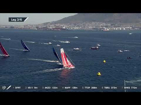 El Dongfeng Race Team gana una espectacular regata In-Port en Ciudad del Cabo
