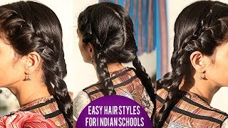 Easy Quick Braided Hairstyle for School Girls | Latest HairStyles 2018