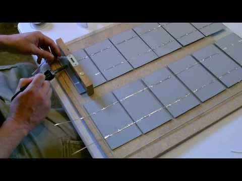 How to make a Solar Panel - Wiring, Soldering, and Cell Layout - Explained Simply!
