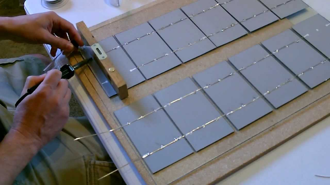 How To Make A Solar Panel Wiring Soldering And Cell