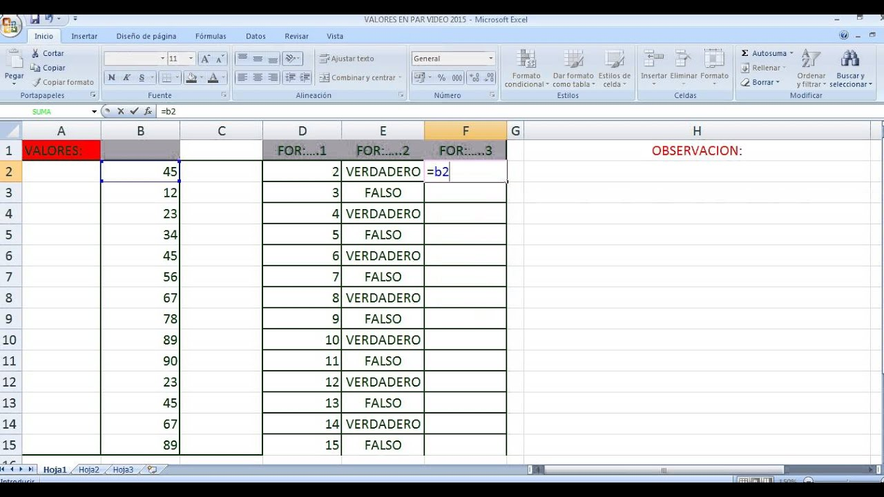 Video De Falso Y Verdadero En Excel Youtube