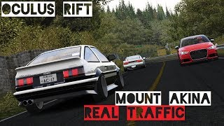 Toyota AE86 and Nissan 180SX cruising and drifting through some tra...