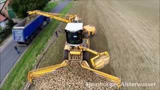Aerials sugar beet harvest in Cleanliner RL 350 2014   Luftaufnahmen Zuckerrübenernte