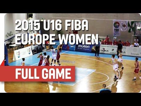 Germany v Hungary - Group F - Full Game - 2015 U16 European Championship Women