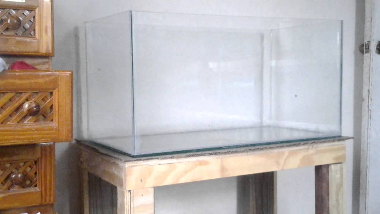 Diy 50 gallon tank 36 x 18 x 18 and stand   YouTube