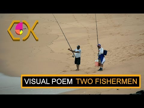 A SHORT VISUAL POEM ON TWO GLOOMY DAY FISHERMEN AT SHEFFIELD BEACH – VISUAL POEM 2017_11_09