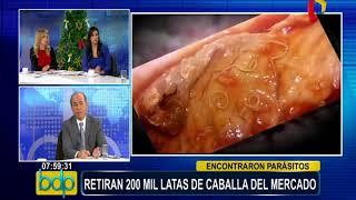 Presidente de Aspec se pronuncia sobre conservas de caballa con parásitos