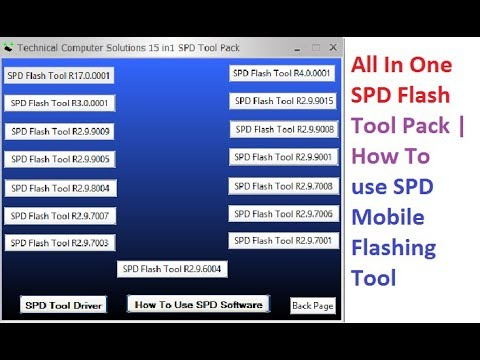 All In One SPD Flash Tool Pack | How To use SPD Mobile Flashing Tool