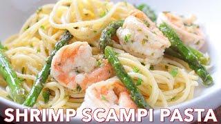 Dinner: Shrimp Scampi Pasta with Asparagus - Natasha's Kitchen