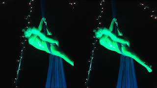 LED Freestanding Rig Aerial Silks