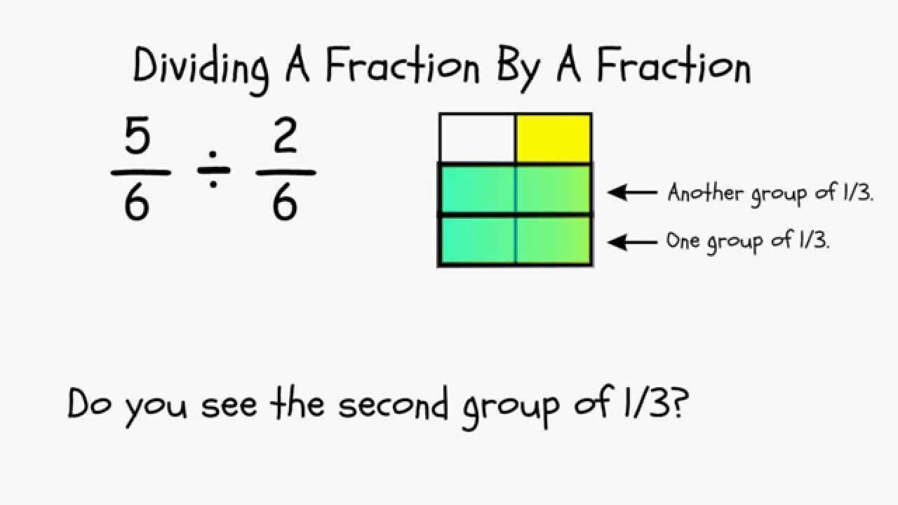 Why do you flip the second fraction when dividing fractions youtube ccuart Image collections