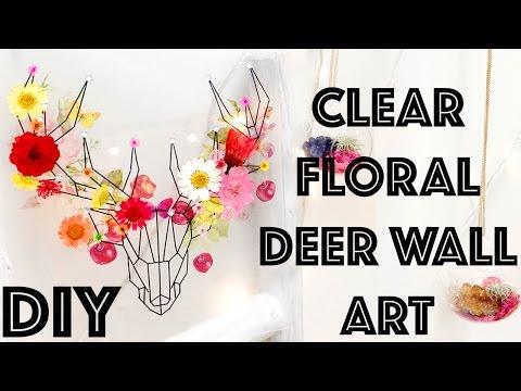 DIY: Clear Stag/Deer Floral Wall Art