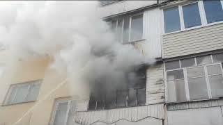 20 03 2019 Пожар в квартире Бобруйск, ул  Ульяновская