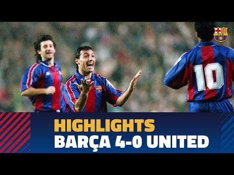 BARÇA 4-0 MANCHESTER UNITED | Champions League Group Stage 1994/1995