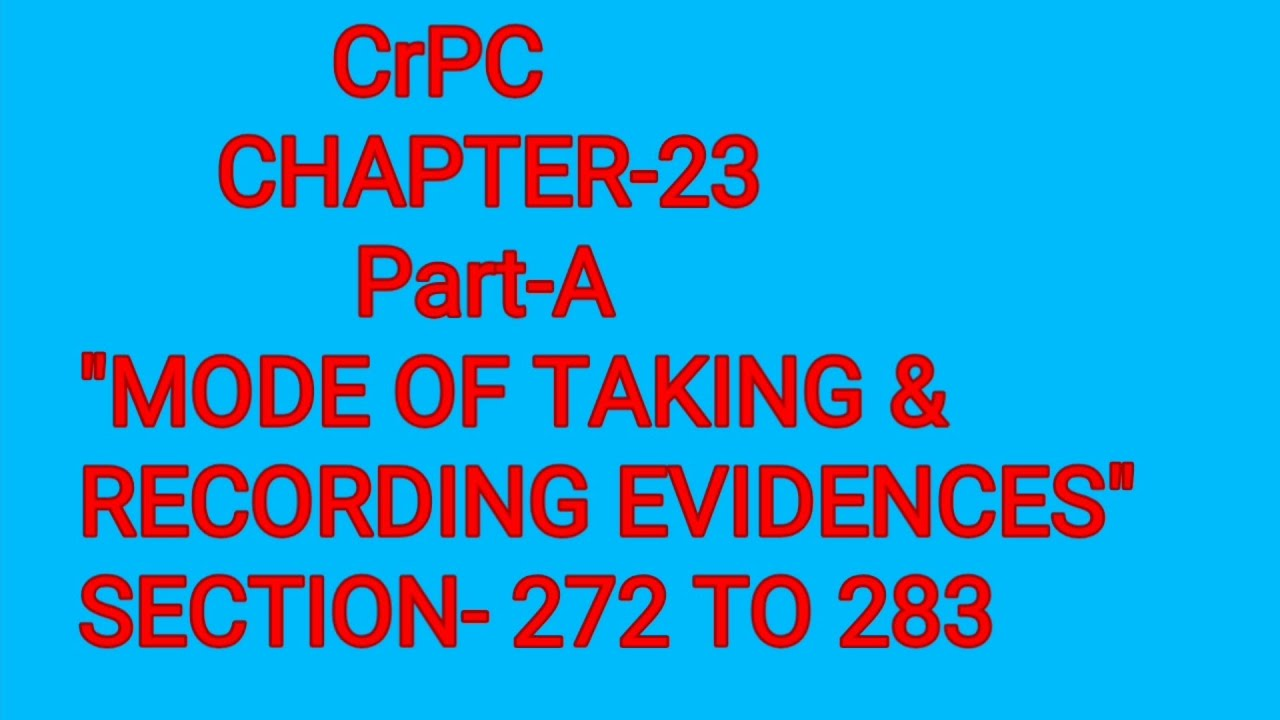 SECTION- 272 to 283 of CrPC