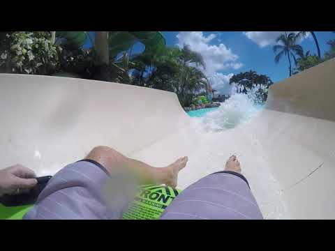 Big Kahuna Yellow Slide - Wet n Wild Hawaii