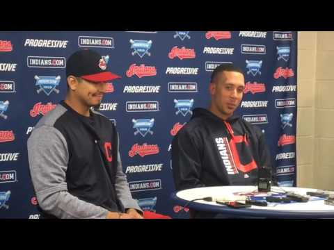 Michael Brantley thanked his family following his walk-off double in Cleveland's home-opening win
