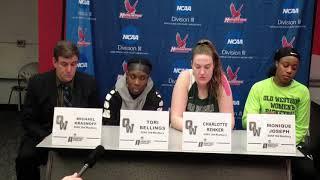 2018 NCAA D3 WBB Post-Game - Old Westbury