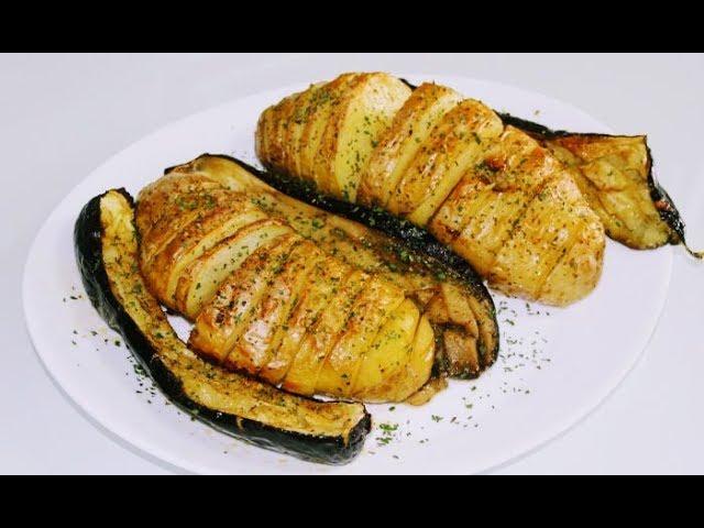 Печени картофи, тиквички и патладжани с масло