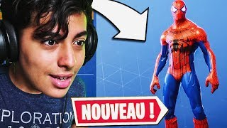 THIS HACKER ME DONNE THE NEW SKIN SPIDER-MAN ON FORTNITE BATTLE ROYALE!