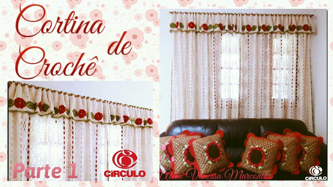db6f5c1930 🌷 Cortina de Crochê. 1 2 . Por Vanessa Marcondes - YouTube