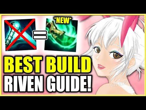 *NEW* BEST RIVEN BUILD GUIDE!   SEASON 9 - League of Legends