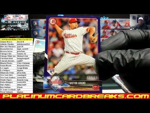 2018 Bowman Baseball Hobby 12 Box Case Random Teams #12