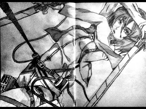 Speed drawing anime mikasa ackerman shingeki no kyojin attack on titan