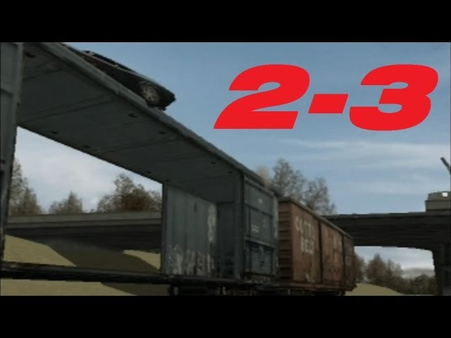 Stuntman (PS2) Walkthrough 100%: A Whoopin' And A Hollerin', Scene 3 - Tame The Train