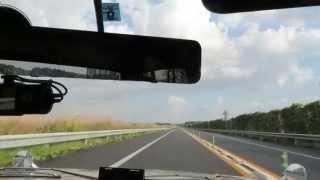 がらすきの秋田道をPGC10で走行