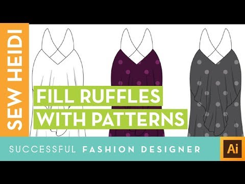 How to Draw Ruffles Filled with Repeating Pattern Swatches