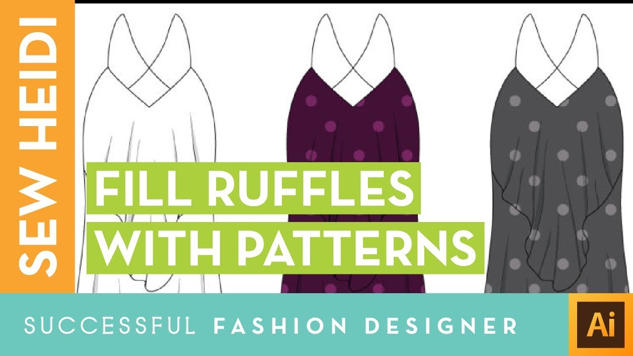 How To Draw Ruffles Filled With Repeating Pattern Swatches In Illustrator