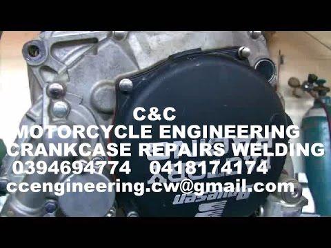 125 Alloy Crankcase sump plug welding