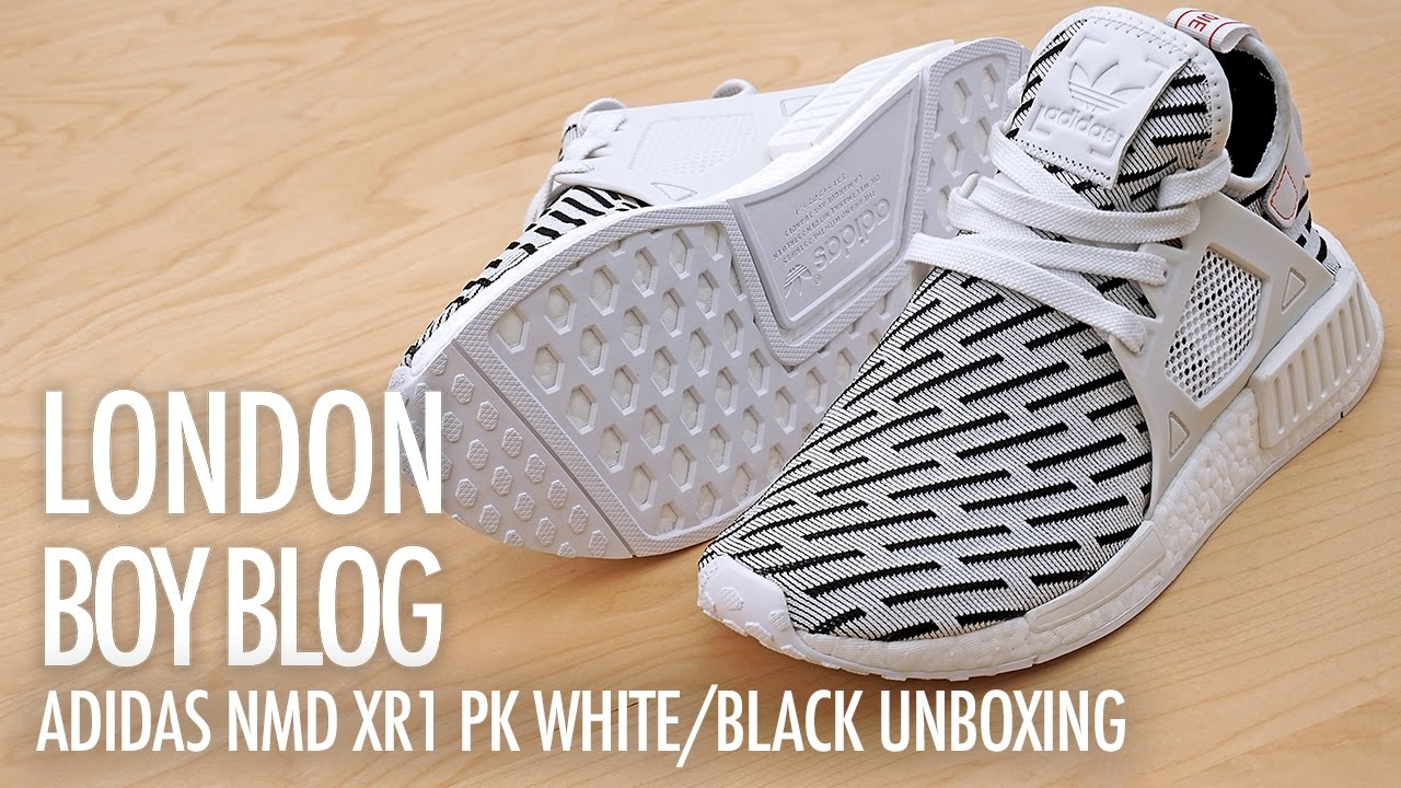 a580213740b31 Adidas NMD XR1 PK White Black Unboxing - YouTube