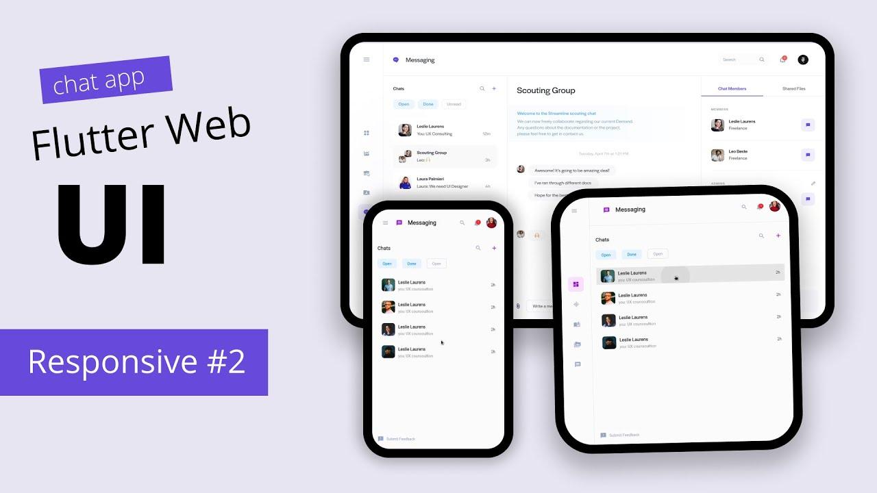 Flutter Responsive UI Design Tutorial Scratch   Chat App #2