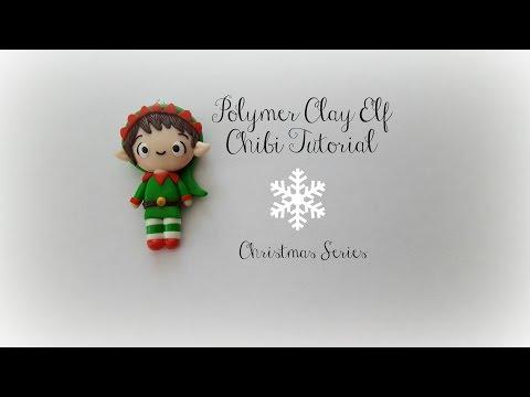 Polymer Clay Elf Chibi Tutorial || Christmas Series