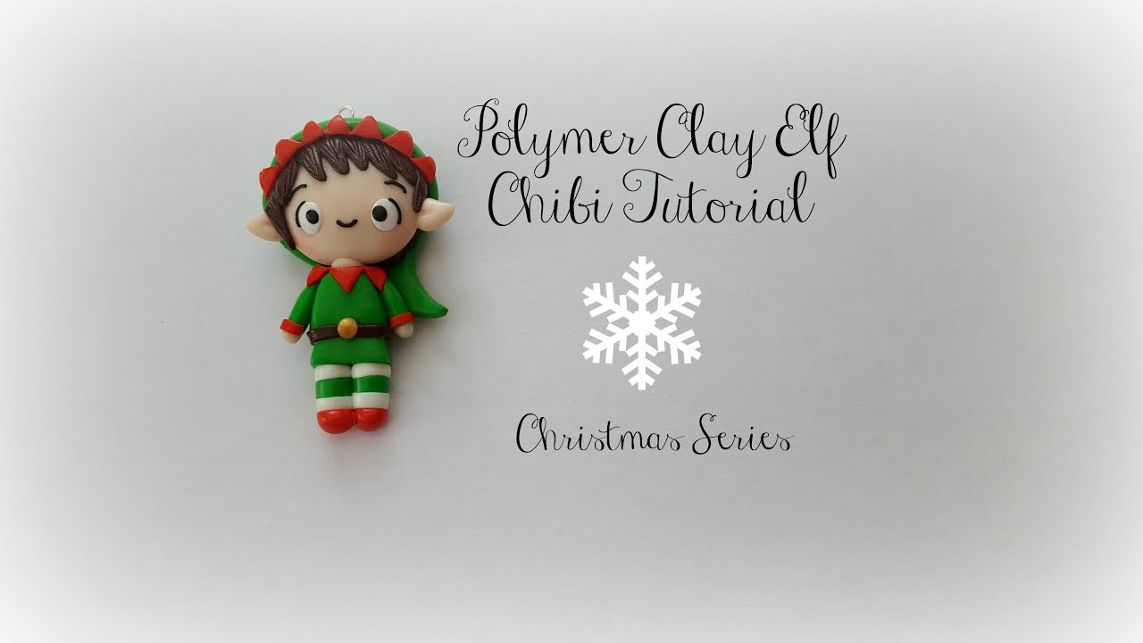 Polymer clay elf chibi tutorial christmas series youtube baditri Images