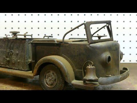 Rusty  And Burned 1950's Doepke Fire Truck  Restoration