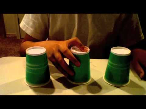 Amazing cups and balls trick: 3 cups 1 ball By:Luc