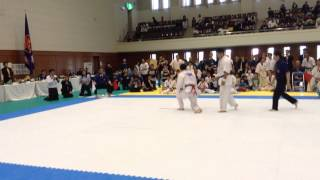 Kyokushin karate 極真 福井県大会 2014年 金鍾吉(キムジョンギル) 決勝...
