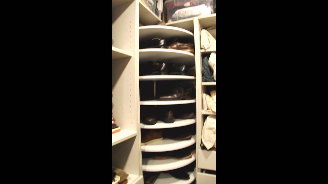 Novedosas zapateras giratorias circulares youtube for Zapateras modernas para closet