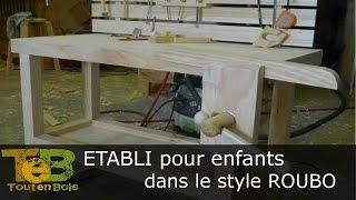 Travail du bois - construction d'un établi simple / building a simple workbench