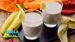 Banana Milkshake Recipe by Tarla Dalal